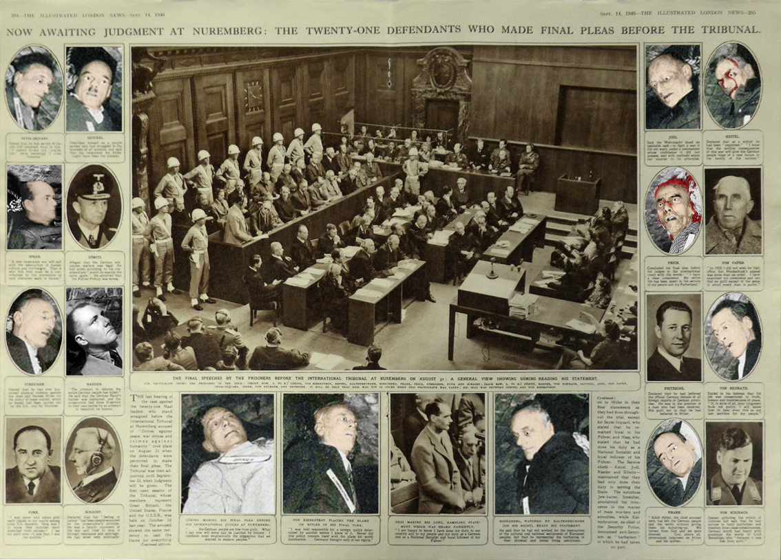 Nuremberg main trial IMT open eyes executions hanging
