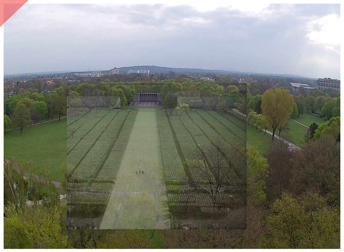 Nuremberg Party Rally Grounds Triumph will 1934 bird view Now Then