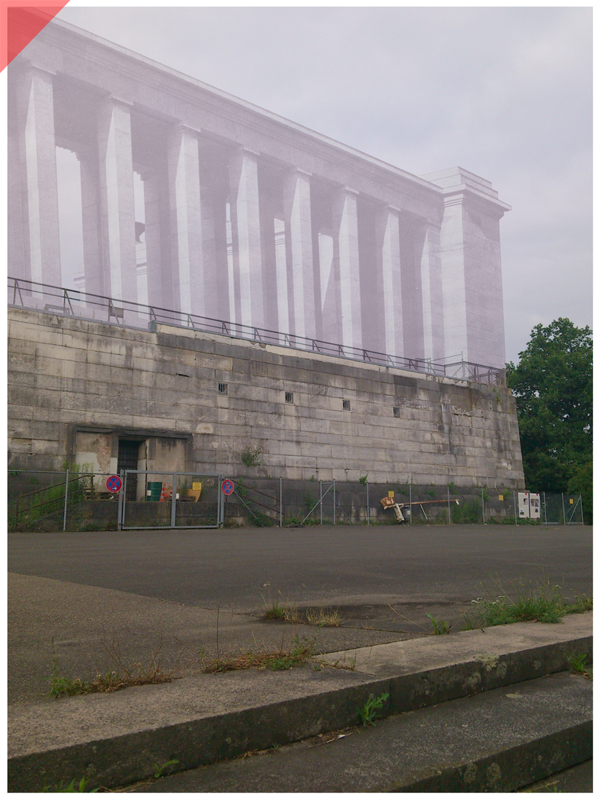 Nazi Party Rally Ground Zeppelin field columns facade conservation